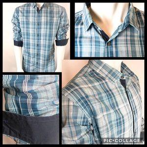 Alfani Long Sleeve Button Down Dress Shirt